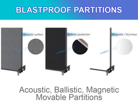 movable blastproof partition